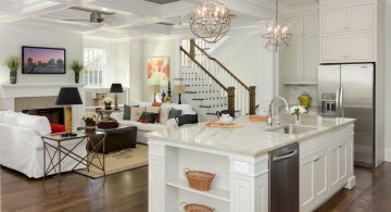 modern painted floors inspiration for contemporary kitchen