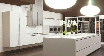 modern painted floors inspiration for sleek contemporary kitchen design