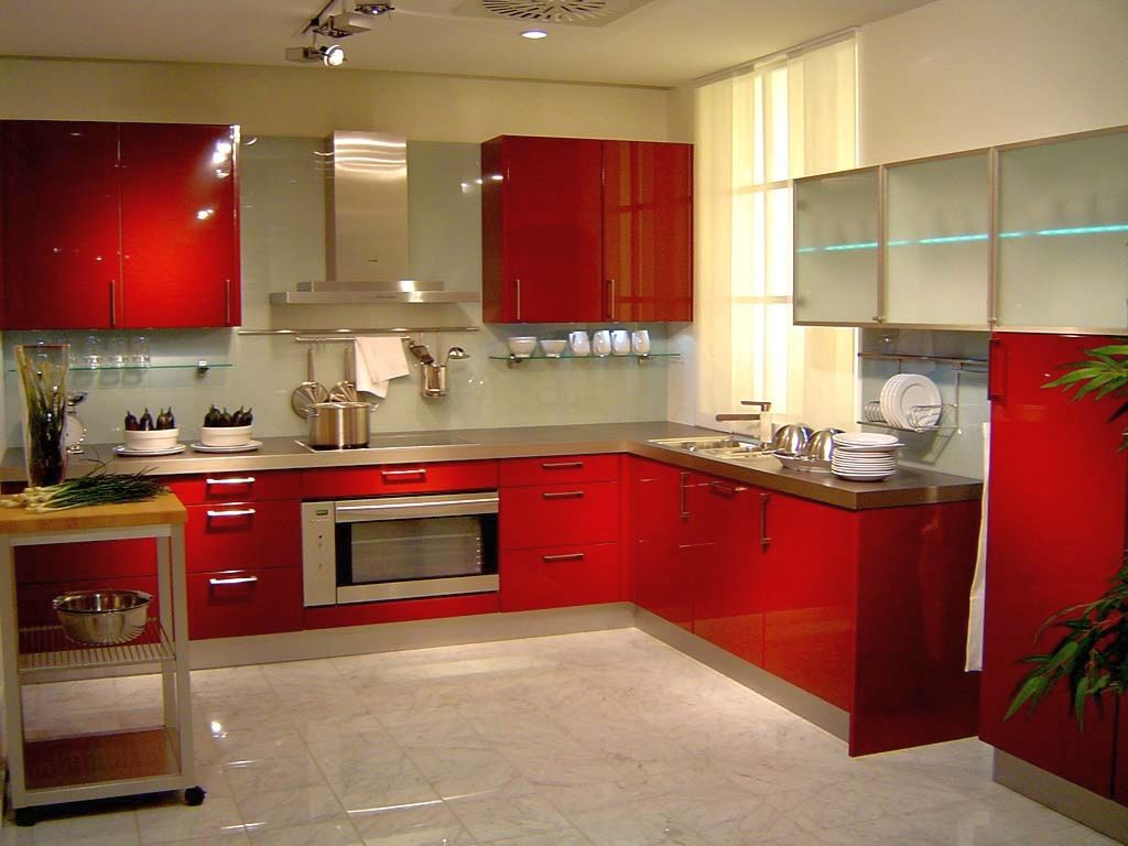 kitchen with red cabinets 20 striking kitchens with lacquer kitchen cabinets 6546