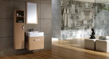 modern wooden bathroom designs