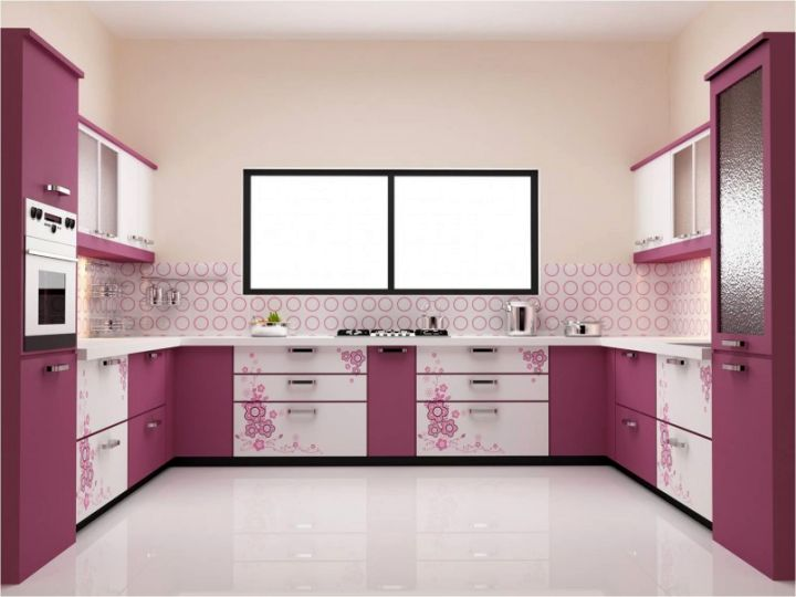 So What Do You Think About Modular Kitchen Designs U Shaped In Purple For Small Kitchens Above It S Amazing Right Just Know That Photo Is Only