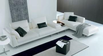 modular sofas in monochrome