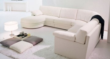 modular sofas in white