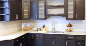 natural dark wood ideas for cabinet doors