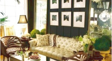 nature theme with african living room decor