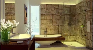 nature themed cool modern bathrooms