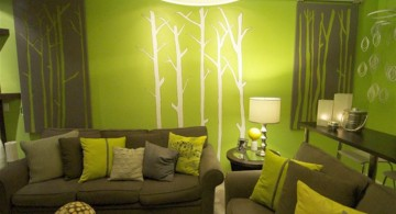nature themed lime green accent walls