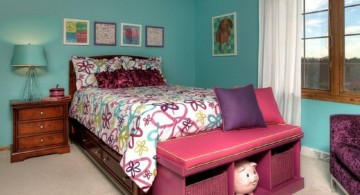 nice rooms for girls with blue walls