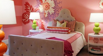 nice rooms for girls with flower decals