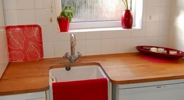 orange small laundry room designs