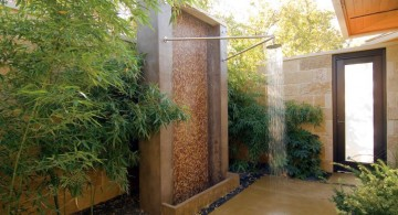 outdoor bamboo themed bathroom