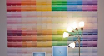 pantone color palette diy bedroom art