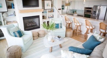 pastel-colored room designs for summer house