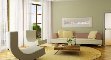 pastel-colored room designs minimalist contemporary green