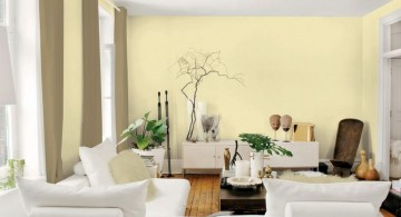 pastel-colored room designs with cream wall and white furnitures