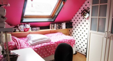 pink and black bedroom decor for small space