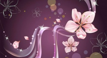 pink flowers simple painting ideas canvas
