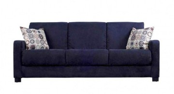 plush small sofa beds for small rooms in blue
