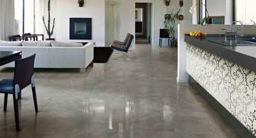 polished marble tile flooring ideas for living room