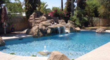 pool shapes and designs with waterfall