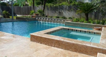 pool with spa designs geometric pool and jacuzzi