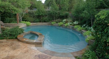 pool with spa designs with stone deck