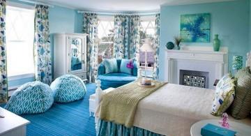 pretty girl bedrooms in blue color scheme