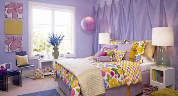 pretty girl bedrooms with purple curtain walls