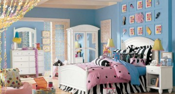 pretty girl bedrooms with zebra print linen