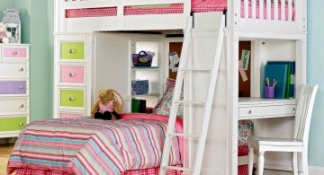 pretty in pink cool bunk bed designs