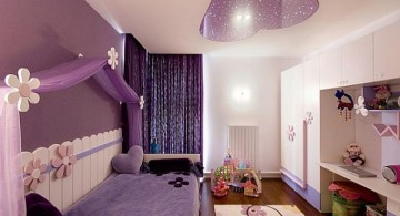 purple and midnight sky teenage girl curtain designs