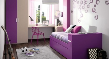 purple psychedelic cool painting ideas for bedrooms
