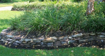 raised stones for flower beds