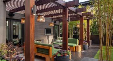 relaxing and modern deck design