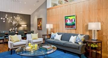 retro living room ideas for tall ceilinged room