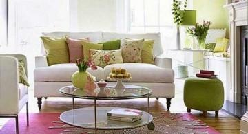 retro living room ideas with white sofas