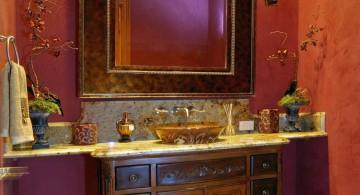 retro looking Bathroom vanity lighting ideas