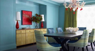 retro style multi colored dining chairs