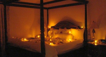 romantic lights bedroom decoration for valentines day