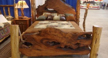 rustic bed plans with repurposed woods