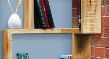 rustic framed corner shelf designs