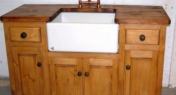 rustic freestanding kitchen sinks