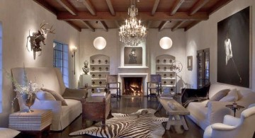 rustic living room ideas in white