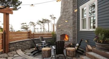 scandinavian fireplace design ideas for outdoor living room