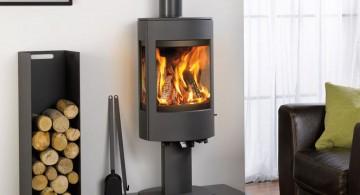 scandinavian fireplace design ideas for small space