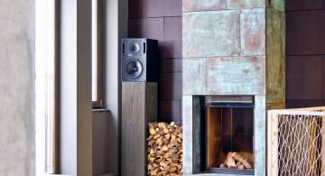 scandinavian fireplace design ideas for the corner