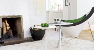 scandinavian fireplace design ideas with contemporary furnitures