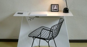 simple and contemporary minimalist office furniture for small space