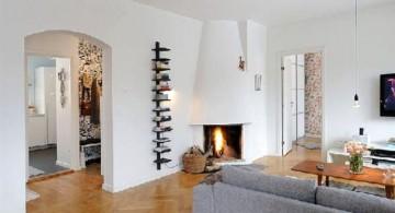 simple and cozy scandinavian fireplace design ideas
