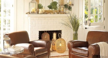 simple and minimalist earth tone living room with big couches